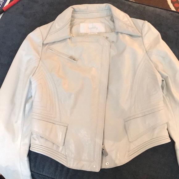 56d469bbff9 hanii y Jackets   Blazers - Hanii Y Sheepskin Leather Cropped Moto Jacket